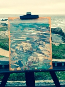 Finished plein air study at Asilomar Beach.