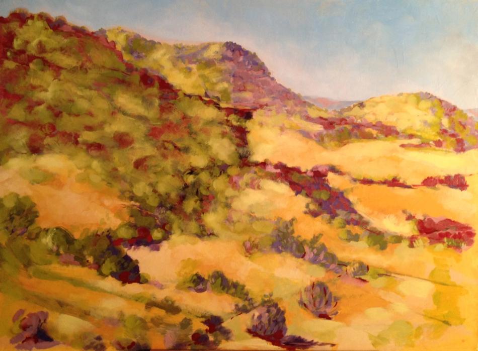 Santa Ritas; oil on canvas; 30 x 36