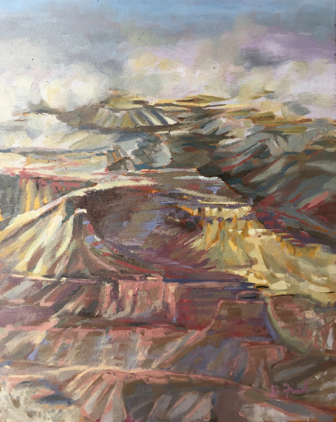 Fink, Hopi Point 2, oil:wood