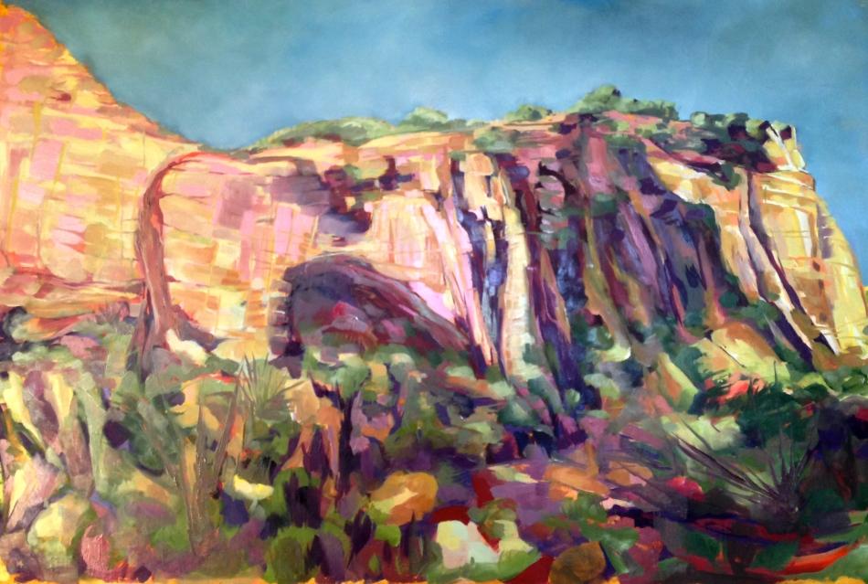La Ventana; oil on canvas; 24 x 36