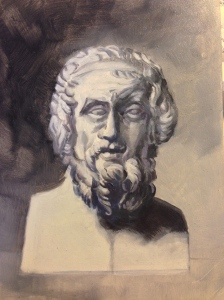 Homer in oil, by BF.