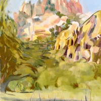 Painting at Cochise Stronghold at the Horse Trail